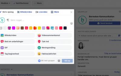 Facebookgrupper – hvad skal du vide?
